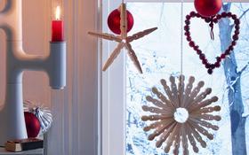 Świąteczna dekoracja - gwiazda z drewnianych spinaczy