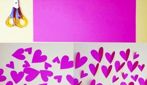 KROK I - Wycinanie papierowych serc