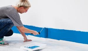 KROK I - malowanie na ścianie głównych kolorów